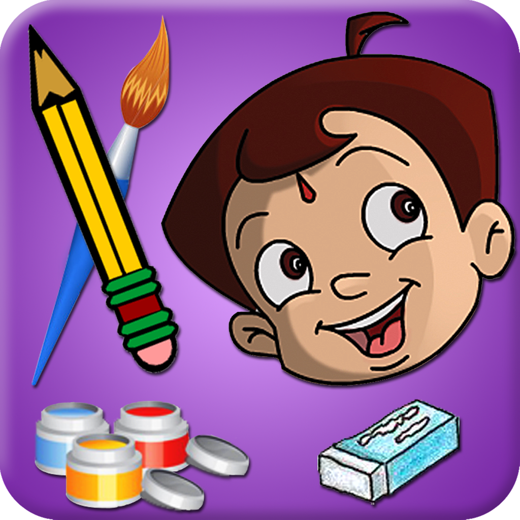 Draw & Color Chhota Bheem and his Friends